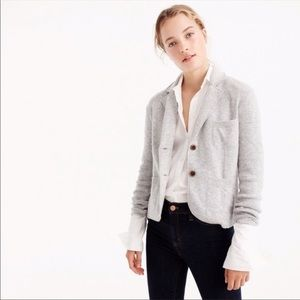 J. Crew cropped sweater blazer in Red